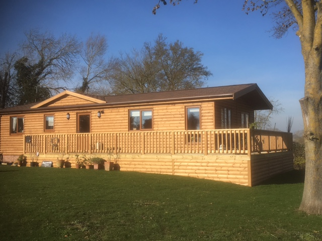 Photos of recent mobile log cabins